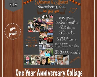 One Year Anniversary File - Our First Year - Anniversary - Gift Ideas - Custom - Wedding Anniversary - One Year - Love - DIGITAL