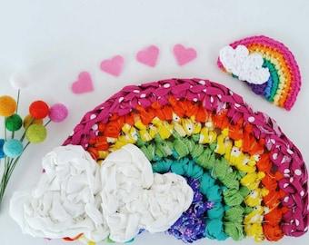Crocheted Rainbow Wall Art