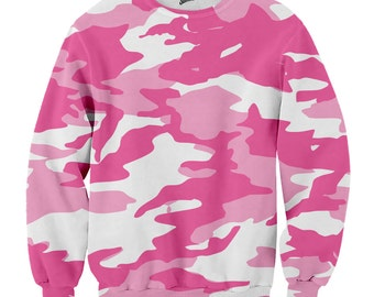 Pink Camo  Sweater