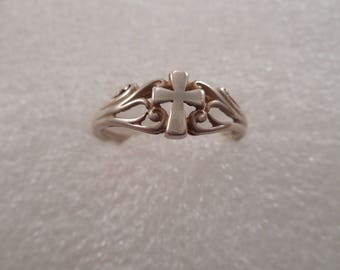 Vintage Sterling Silver Celtic Cross Ring Size 9