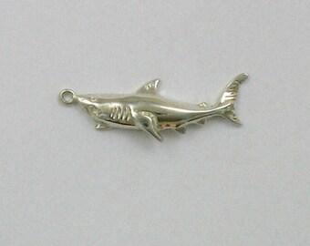 Sterling Silver 12mm Shark Charm