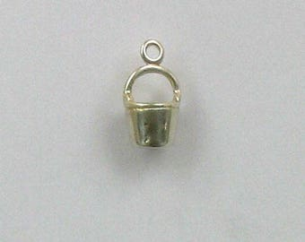 Sterling Silver 3-D Water Bucket Charm