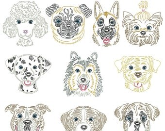 Dog breeds part 3 for the border 10x10cm