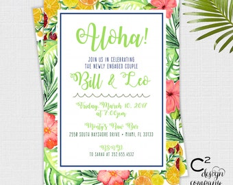 Aloha! Invitation | Bridal Shower, Engagement Party, Baby Shower