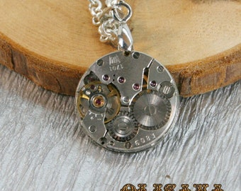Watch movement  Steampunk   Pendant ,  Steampunk Jewelry , Steampunk Jewelry , Clockwork Watch Movement   Pendant
