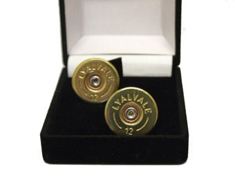 Pair of shotgun cartridge cufflinks