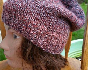 Knit slouchy Hat, Knit Beanie, snowboarding Knit hat, Slouch Hat, Slouchy Beanie, Slouchy, multi color Slouchy hat, Snowboarding beanie