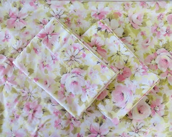 Vintage Floral Pillow Cases (Set of 3) - Marvelaire by Springmaid - Pink - Cottage Style