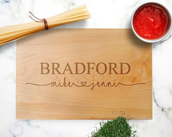 Personalized Cutting Board walnut - custom wedding gift - personalized wedding board maple