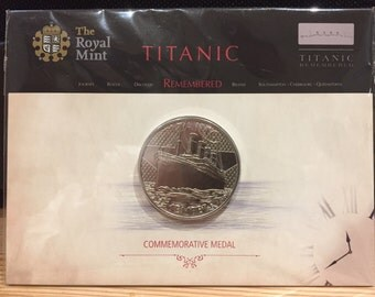 """Royal Mint """"Titanic Remembered"""" - Commemorative Medal / Coin - Sealed in Folder"""