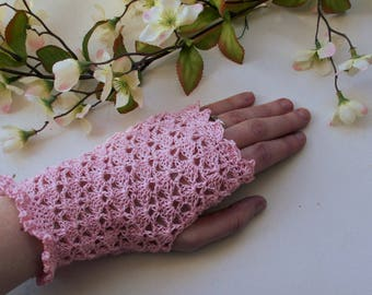 Bridal Lace Fingerless Gloves