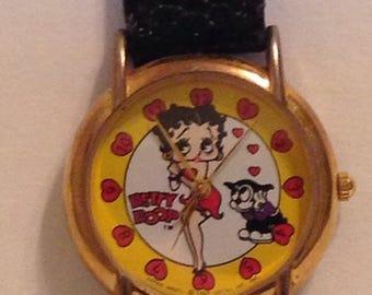 On Sale Betty Boop Wrist Watch Vintage