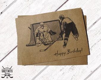 Hockey Birthday Card - Ink Sketch