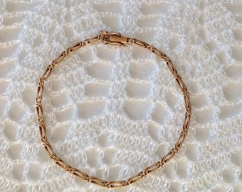 18K gold bracelet,  gold bracelet. bracelet, gift to her, christmas gift, gold bracelet,