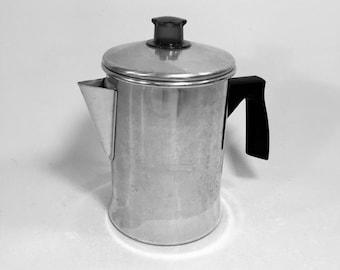 Vintage 5 Cup Foley Aluminum Coffee Pot Percolator