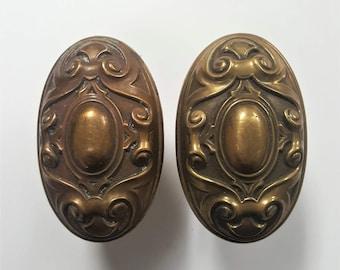Antique Oval Decorative Doorknob Set 530552