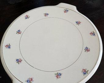 Plate tarte Opaque Digoin Sarreguemines France -Vintage-