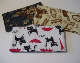 Fabric Checkbook Cover with Style