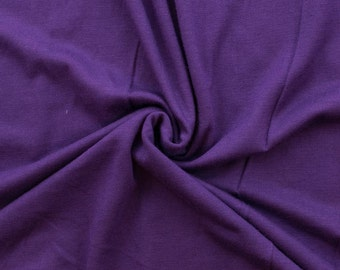 Eggplant Rayon Spandex Knit by Made Whimsy