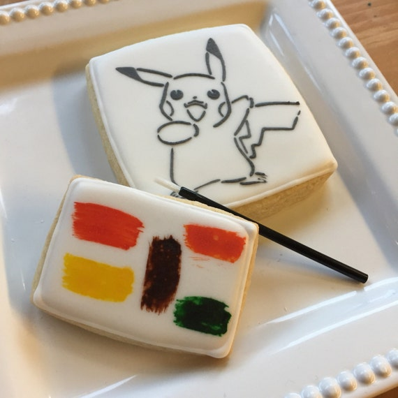 Pokemon Paint Cookies