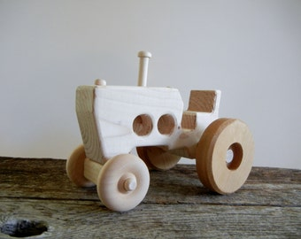 Wood Handmade Toy Tractor-Push Pull Toy-Farm Toy-Eco Friendly-All Natural