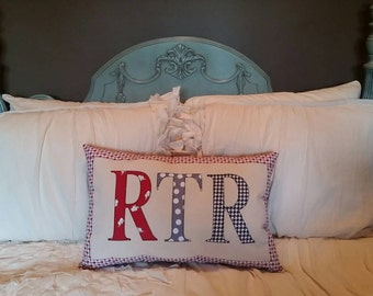 Made to Order - 'RTR' Applique Pillow