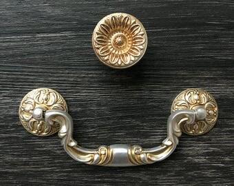 "4 1/2"" Drop Bail Drawer Knobs Pulls Handles Dresser Knob Antique Silver Rustic Cabinet Door Pulls 4.5"" 114 mm ARoseRambling Vintage Style"