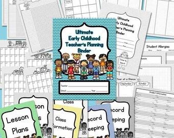 Early Childhood Teacher's Planning Binder