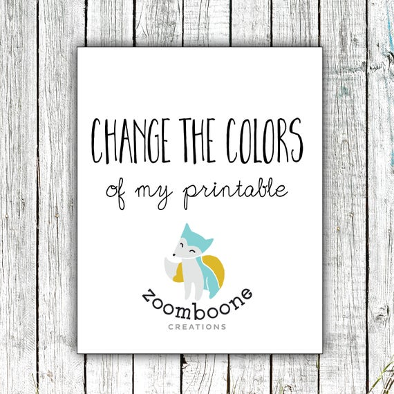 Change the Colours of my Print- Add on to Purchase