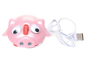 Pig Computer Mouse With Googely Eyes and Mood Light