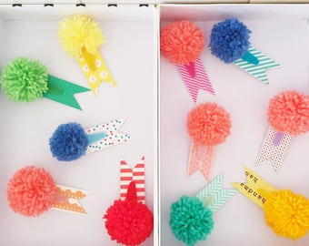 THE FERRUZZI!!! Limited series of handmade with pom pom hair clips