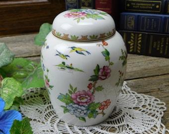 Vintage Crown Staffordshire Fine Bone China Lidded Ginger Jar - Pagoda
