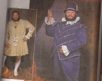 McCalls 9633 Men's Renaissance Costumes pattern. Size BB  (xl,xxl). circa 2001