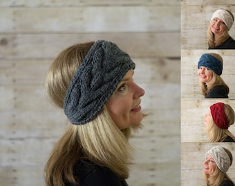 Cable Knit Headband, Knit Headband, Ear Warmer / THE NORFOLK / Choose Your Color