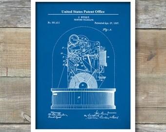 Telegraph Patent 1897, Patent Prints, Telegraph Poster, Office Decor, Investor Gift, Telegraph Poster, Telegraph Art, Inventions, P486