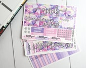 Spring Floral March Monthly Pages Sticker Set for Erin Condren Planners - MS67