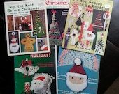 Vintage Macrame Pattern Instructions for Christmas 5 books