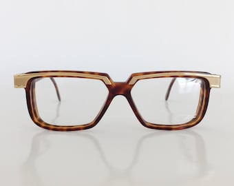 Cazal Eyewear, Model 650 821 tortoise and gold eyeglasses, Vintage Cazal eyeglass frame, New Dead Stock, Cazal glasses, Vintage Eyewear