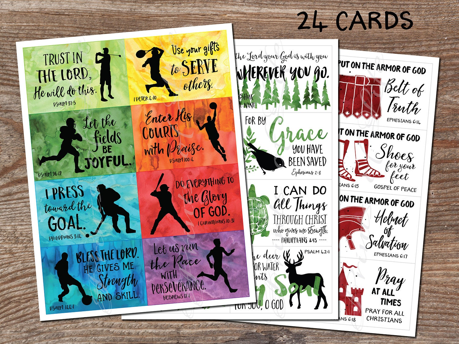 lunch box notes set 9 boys scripture instant download