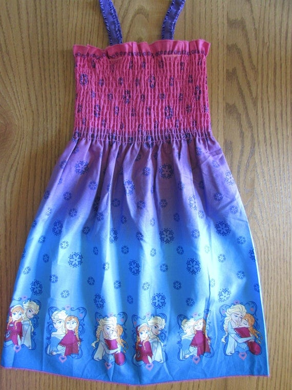 Frozen sundress/cotton sundress/Frozen dress/toddler Frozen sundress/Frozen gift/Frozen clothes/Frozen mock smock/Disney dress/Princess dres