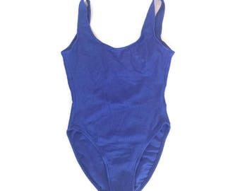 Vintage Ribbed Royal Blue One Piece