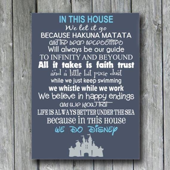 In This House We Do Disney Wood Signdisney Wedding