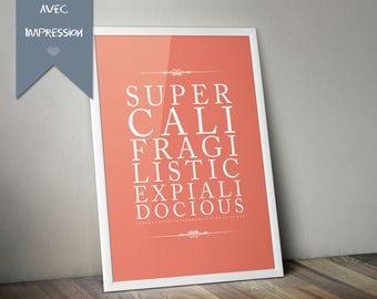 Printing Poster Deco - Supercalifragilisticexpialidocious