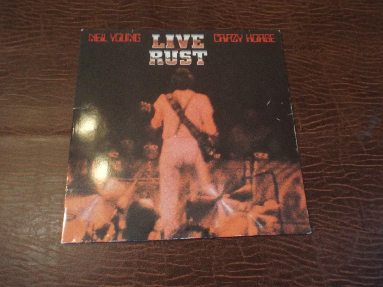 Neil Young 1979 Crazy Horse Live Rust Double Lp Album