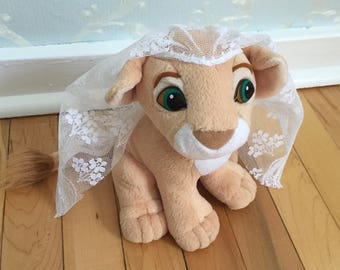 Vintage 1993 Kissing Nala Disney The Lion King Stuffed Plush Doll Toy!