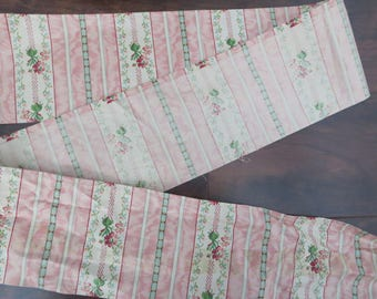 "Huge Vintage Bolt of 4.5"" wide Pink floral cotton trim"