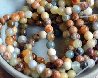 8mm New Jade Beads, Jade Beads, Jade Beads, Gemstone Beads, Stacking Bracelets, Natural Jade, Genuine Jade, One Strand, 52 Beads MAN16-401