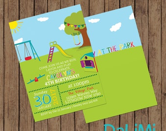 Outdoor Birthday Invitation - Playground Invitation - Playground Birthday - Park Birthday - Park Invitation - Printable Invitation!