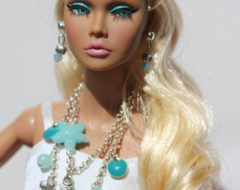 OOAK doll jewelry set for Fashion Royalty, Poppy Parker, Barbie