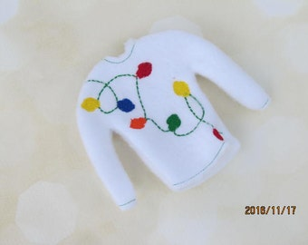 Elf or Doll Holiday Light Sweater